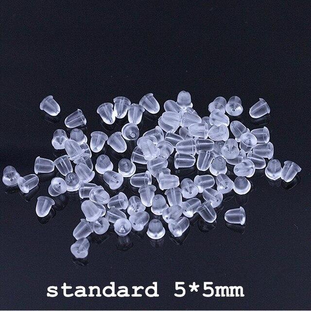 100 pieces/piece nuovi gioielli a buon mercato orecchini gioielli FAI DA TE accessori proiettile di plastica orecchio collegamento di bloccaggio posteriore