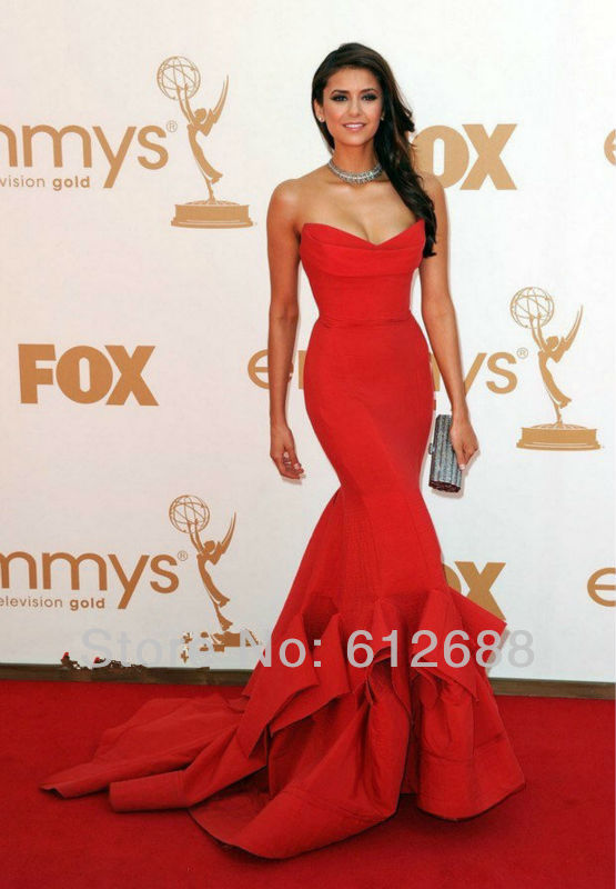 Popular Strapless Red Gown-Buy Cheap Strapless Red Gown lots from ...