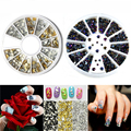 2Box Nail Stickers Decals Rhinestone Crystal Stickers For Nails Design 3D Nail Art Jewelry Charms Decorations Beauty Makeup Tool