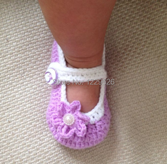 Crochet Baby Booties Baby Girl Booties Crochet Baby Shoes Purple
