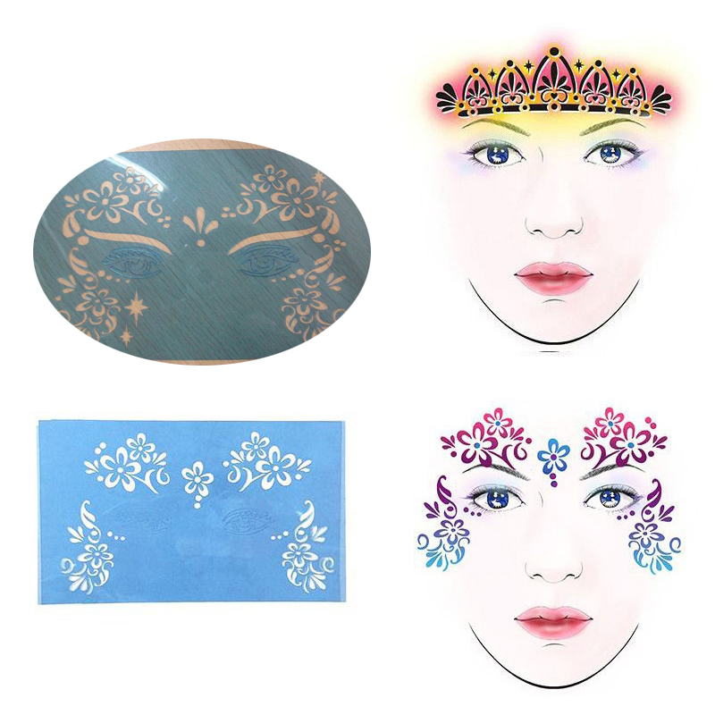 Makeup Nice Reusable Soft Face Painting Stencils Paint Stencil Template Eye Makeup Model Party Christmas Stencils For Painting Children Body