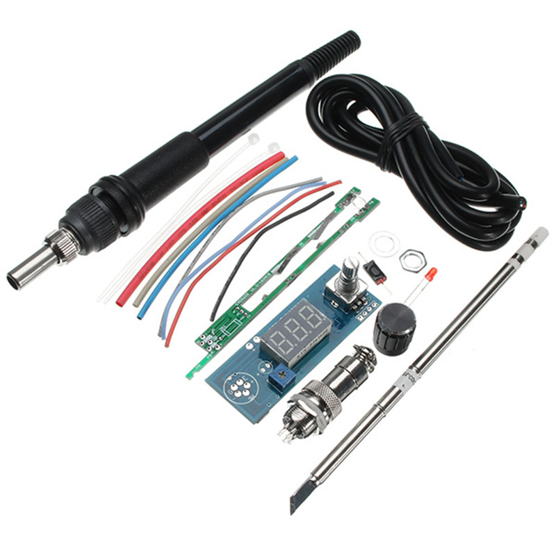 DIY T12 Handle Electric Unit Basic Ability Practical Digital Soldering Iron Station Temperature Controller Kits Hot