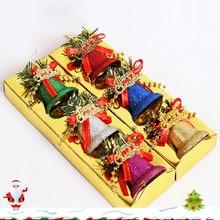 6PCS Colorful Jingle Bells Christmas Tree decorations Pendant Party Ornament