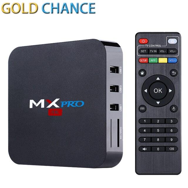Nueva S905 MXPRO MX Pro Android 5.1 TV Box Amlogic Quad Core DDR3 1G Nand Flash 8G HDMI 2.0 WIFI 4 K 1080i/p En Lugar de MXQPRO