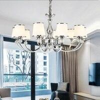 Modern Lustre Chrome Metal Led Chandeliers Lighting Crystal Living Room Led Pendant Chandeliers Lights Bedroom Led Hanging Light