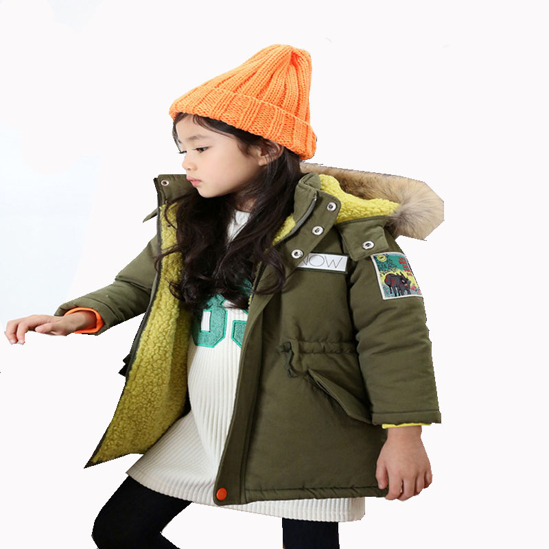 2017 New Children cotton warm winter coat Infants plus thick velvet padded jacket baby Girls Keep warm Cotton outwear women winter coat leisure big yards hooded fur collar jacket thick warm cotton parkas new style female students overcoat ok238