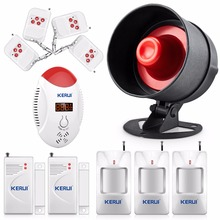 Wireless Home House Alarm Siren System Security Alarm System Easiest Control Motion Sensor Door+Loudest Voice Carbon co Detector