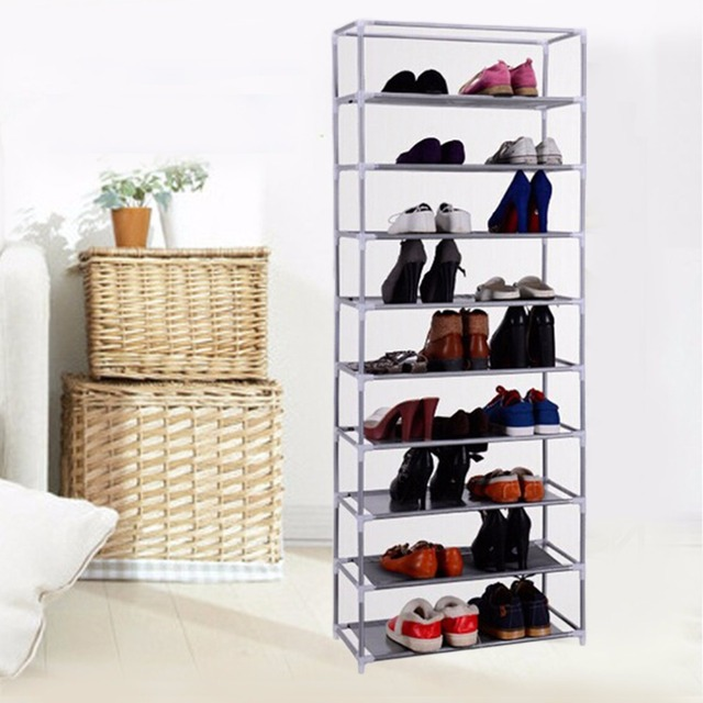 Portable Practical 10 Tier Layer Shoe Tower Rack Shelf Cabinet Stand Space Saving Organiser Storage For  sc 1 st  AliExpress.com & Portable Practical 10 Tier Layer Shoe Tower Rack Shelf Cabinet Stand ...