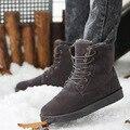 Зима мужчины сапоги приливного течения мужчины хлопка-проложенный обувь тепловые колен-высокие ботинки снега плюс бархат снегоступы мужская мода сапоги