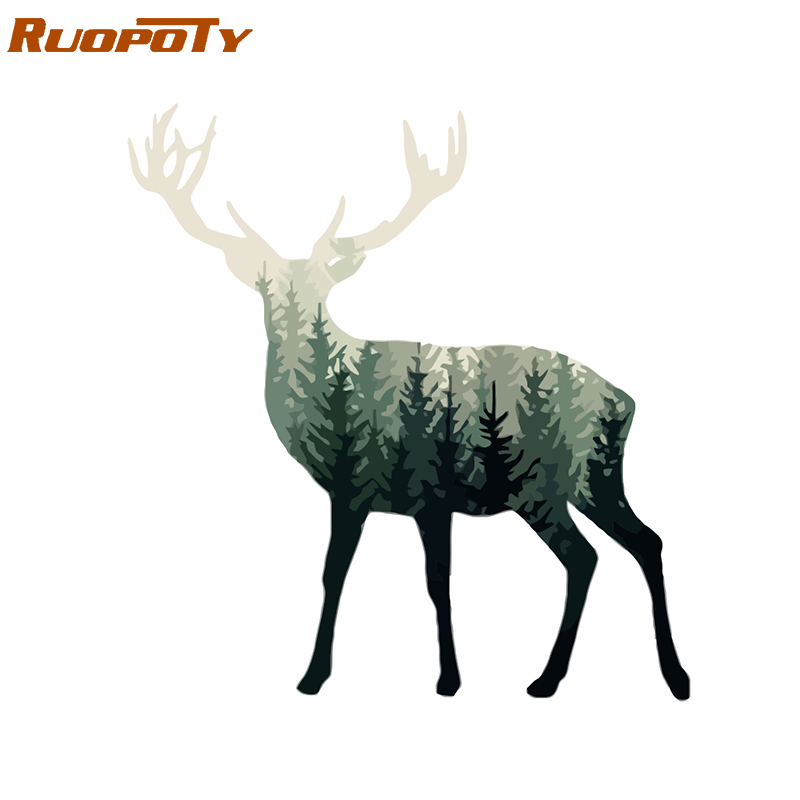 RUOPOTY Frame Abstract Deer DIY Painting By Numbers Animals Modern Home Wall Art Picture By Numbers Acrylic Paint On Canvas Home