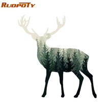 RUOPOTY Frame Abstract Deer DIY Painting By Numbers Animals Modern Home Wall Art Picture By Numbers Acrylic Paint On Canvas Home(China)
