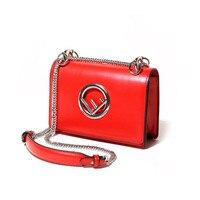 Luxury Brand Famous Designer F Letter Women Leather Handbags Fashion Top Quality Chain Shoulder Messenger Bags Channel Louis Bag