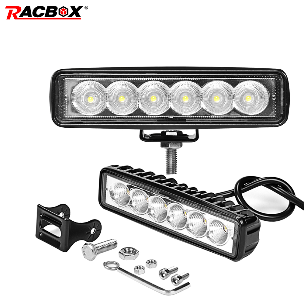 Headlights On Cars 6 39 39 12V 24V 18W Slim Working light Fog Lamps LED Spotlights Worklamp for Cars Motorcycle Moto Auto Off road in Light Bar Work Light from Automobiles amp Motorcycles