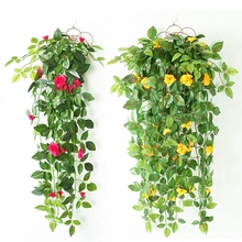 Fake Artificial Plant Eucalyptus Vine Decoration Vivid Rattan Leaf Plants for