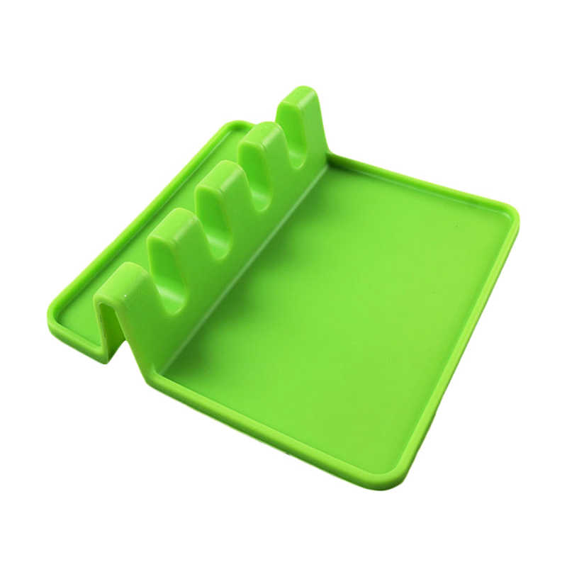 1 pièces Silicone Rack Pad spatule Pot couvercle cuillère passoire support reste support cuisine outil FPing