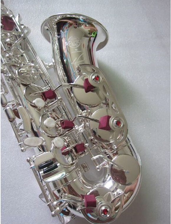 Brand new France Henri Selmer R54 Model Alto Saxophone Silvery Alto Saxofone high quality instrument Sax Complete accessories brand new nickel plated saxophone high quality saxophone alto french selmer instruments r 54 model saxofone sax accessories
