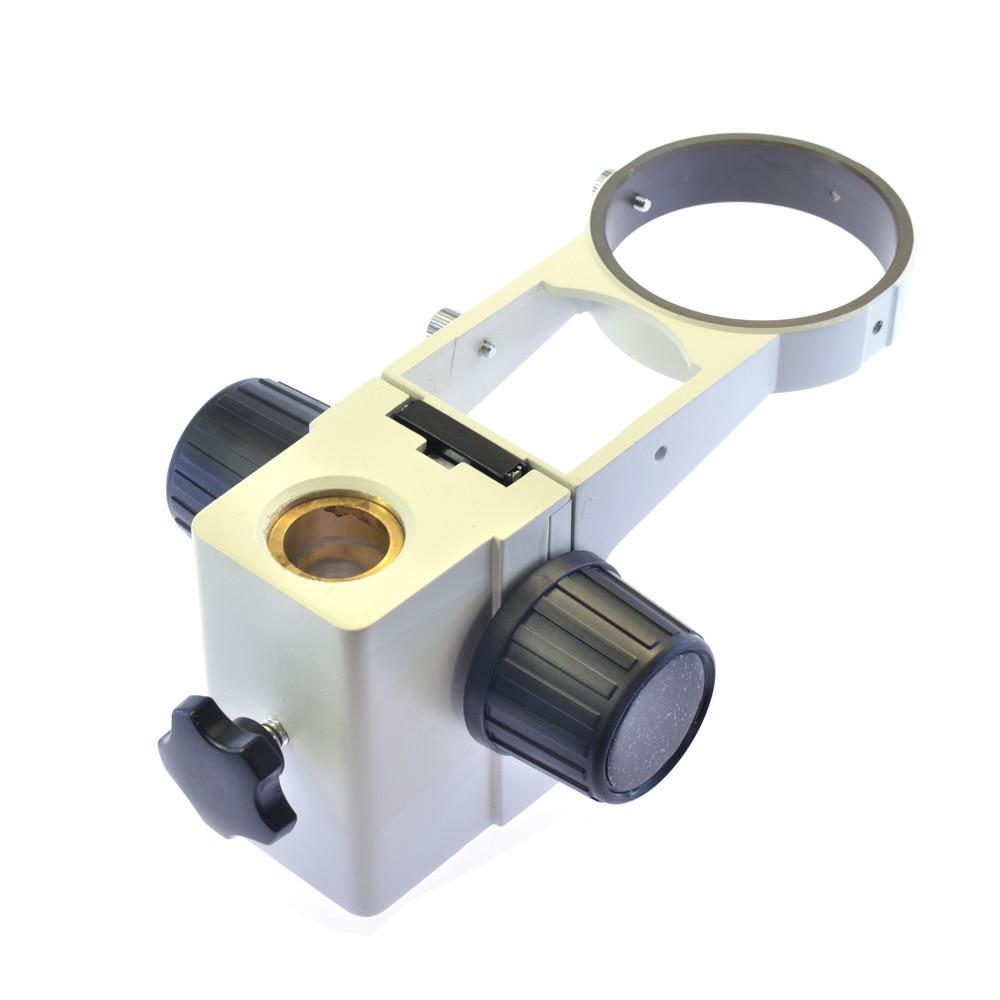 цены 76mm Ring Holder 25mm/32mm Column Dia Adjustable Stereo Microscope Stand Head Support Bar Holder Bracket Frame Part