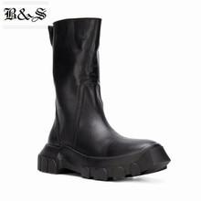 Черные и уличные мужские зимние ботинки из натуральной кожи с высоким берцем в стиле милитари на молнии; ботинки в стиле панк ручной работы; стиль; ботинки в байкерском стиле