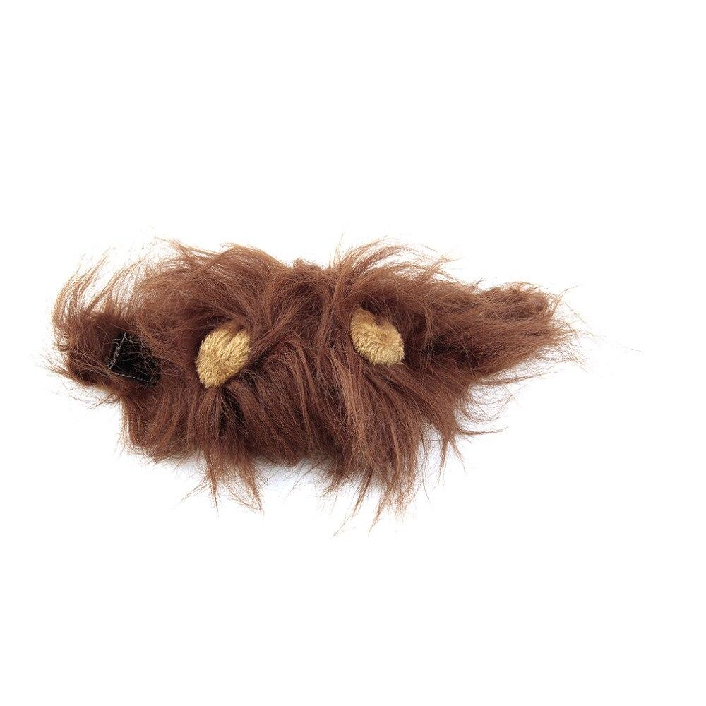 Pet Cat Dog Emulation Lion Hair Mane Ears Head Cap Autumn Winter Dress Up Costume Muffler Scarf #5