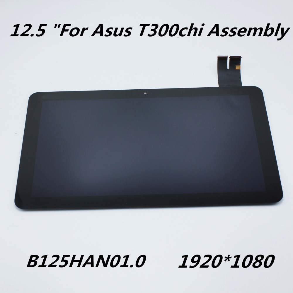 New Original 12.5 Inch For Asus Transformer T300chi T3chi Laptop LCD Display  + Touch Screen Assembly 1920*1080 B125HAN01.0