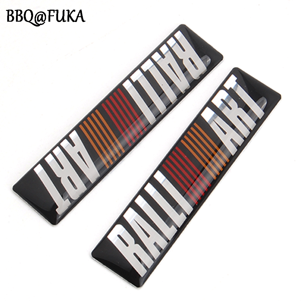 2x Auto Car-styling Ralliart Resin Emblem Badge Decal Decors Sticker Fit For Mitsubishi Lancer Evolution 6 7 8 9 Accessories