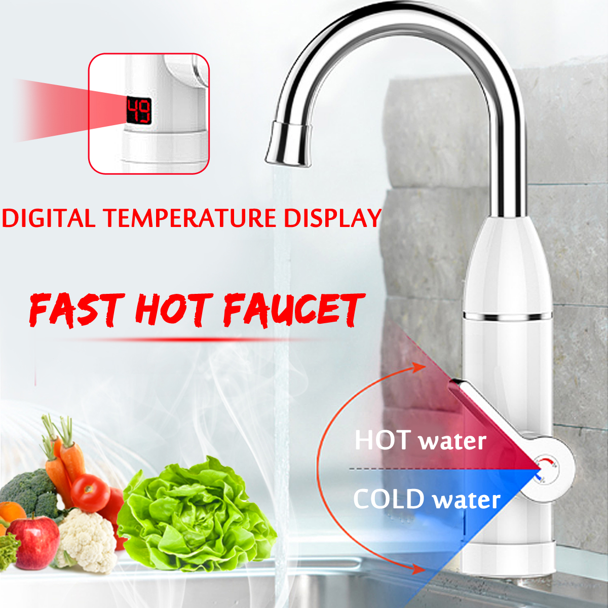 220V 3000W Instant Electric Tankless Cold/Hot Water Heater Shower System Tap Faucet Digital Display Mixer Kitchen Bathroom Tap220V 3000W Instant Electric Tankless Cold/Hot Water Heater Shower System Tap Faucet Digital Display Mixer Kitchen Bathroom Tap