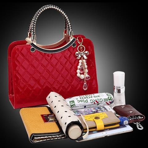 2019 Brand Women Handbags Fashion Luxury Big Shoulder Bag Female Hand Bags Patent Leather Computer Bag for Ladies Girls Islamabad