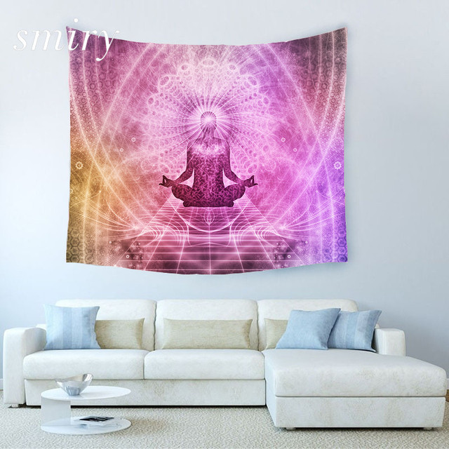 India Yoga Creative Tapestry Beach Throw Mat Yoga Rug Wall Hanging ...