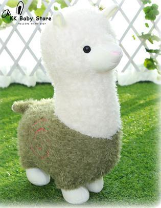 Two-Tone Llama with Spiral Swirl Detail Plush