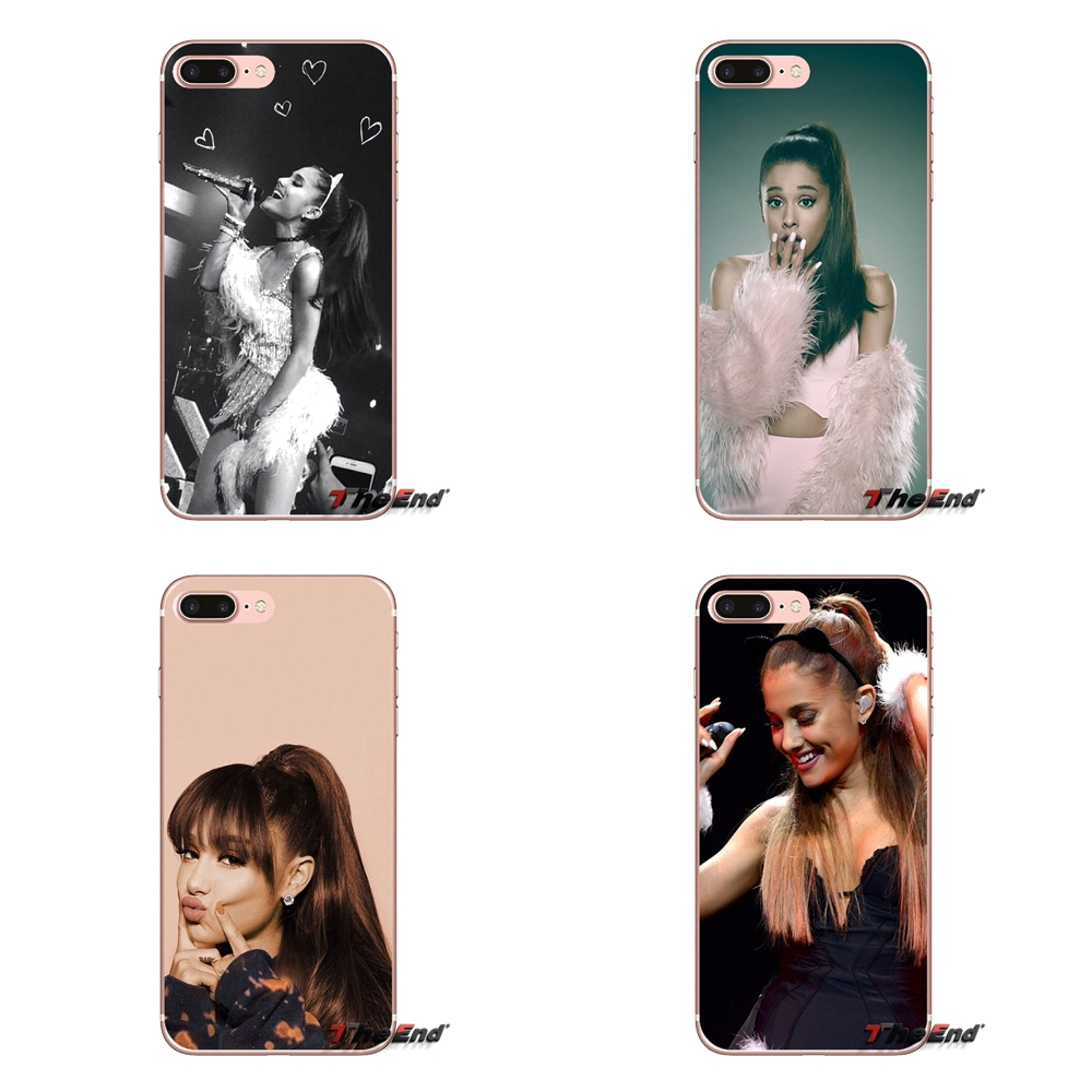 Transparent Soft Cases Covers Ariana Grande For Huawei P Smart Y6 Ascend P8 P9 P10 Plus Nova P20 Lite Pro Mini 2017