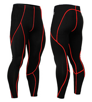 2015 Men 4 Way Stretch Fitness Skin Under Base Layers Long Tights Bottoms Compression Pants