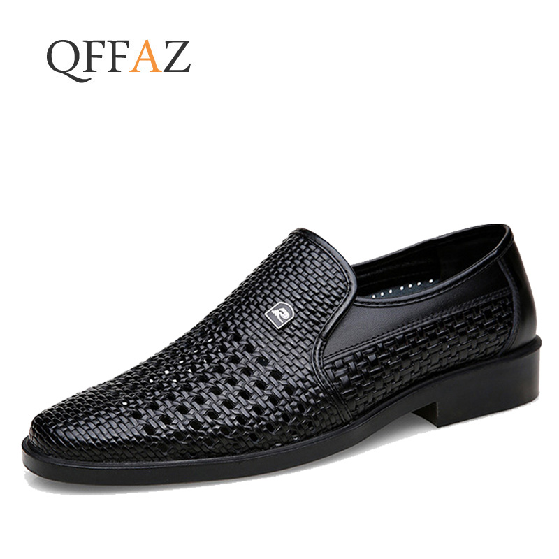 QFFAZ Men Shoes Luxury Brand Genuine Leather Casual Driving Oxfords Shoes Men Loafers Moccasins Italian Shoes For Men Flats