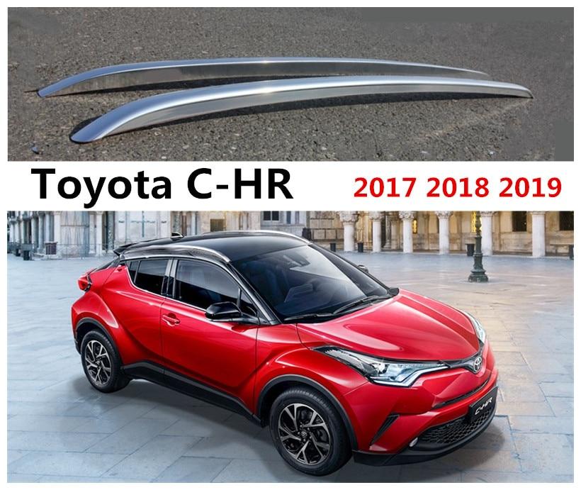 Porte-bagages de voiture porte-bagages barre pour Toyota CHR C-HR IZOA 2017 2018 2019 accessoires de décoration en alliage d'aluminium de haute qualité