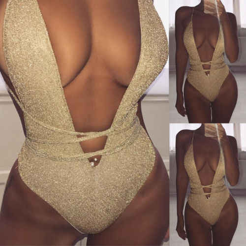 2019 New Womens One Piece Push Up Padded Monokini Beach Swimwear Swimsuit Bikini Bathing Suit Beachwear