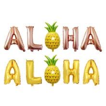 Hawaiian pineapple party balloon decoration suit 16-inch ALOHA letter wholesale aluminum foil balloons