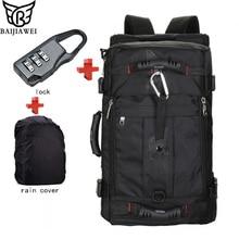 BAIJIAWEI Hot Sale Lock Cover Bag Laptop Backpack Men Mochila Masculina Man s Backpacks Men s