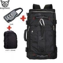 BAIJIAWEI Hot Sale Lock+ Cover + Bag Laptop Backpack Men Mochila Masculina Man's Backpacks Men's Luggage & Travel Bags