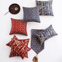 30x5 0/45x45cm patrón chino de bambú de Brisa de satén jacquard funda de cojín vintage funda de almohada sofá
