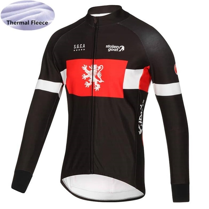 2018 STOLEN GOAT Winter Thermal Fleece New Bora Cycling Jersey Long Sleeve Bike  Clothing Bicycle Shirt Maillot MTB Warm Clothes-in Cycling Jerseys from ... 8705556be