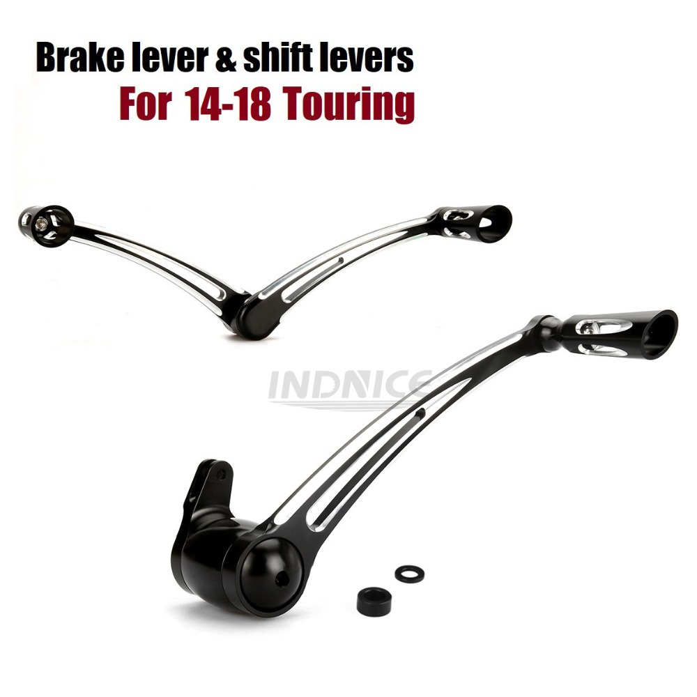 Automobiles & Motorcycles Motorcycle Rear Brake Lever Arm And Gear Shift Levers Shifter Pegs For Harley Touring Electra Glide Road King Flhx 2008-2017 Foot Rests