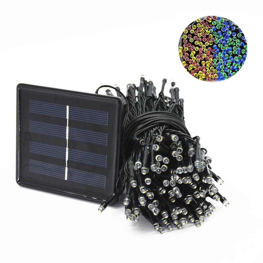 22M 200 LED String Lights Solar Lamp Fairy Lights 8 Modes With Solar Panel Waterproof For Outdoor Lighting Christmas Decoration