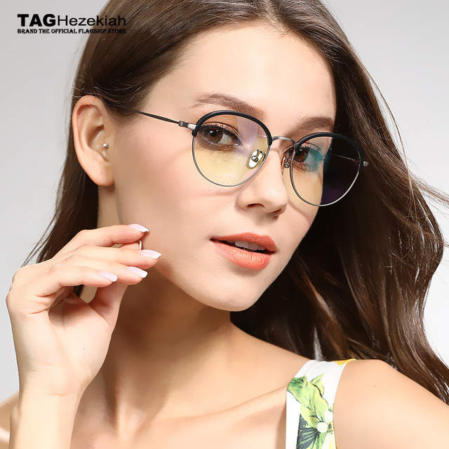 f086e403451 2018 New Arrivals round glasses frame TAG Hezekiah Brand women men Imported  metal trend of young