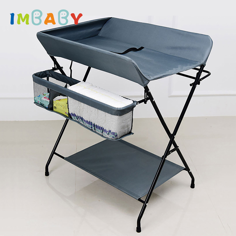 IMBABY Baby Changing Table Newborns Diaper Changing Tables Foldable Diaper Table For Babies Change Table For