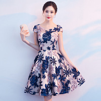 Lady Party Cheongsam Oriental Women's O Neck Dress Chinese Style Elegant Long Qipao Sexy Slim Wedding Gowns Vestidos XS XXXL