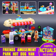 2016 Lepin 01007 Girl Friend Amusement Park Hot Dog Van Building Blocks set Kids Bricks Gift Toys Compatible with Legoed 41129