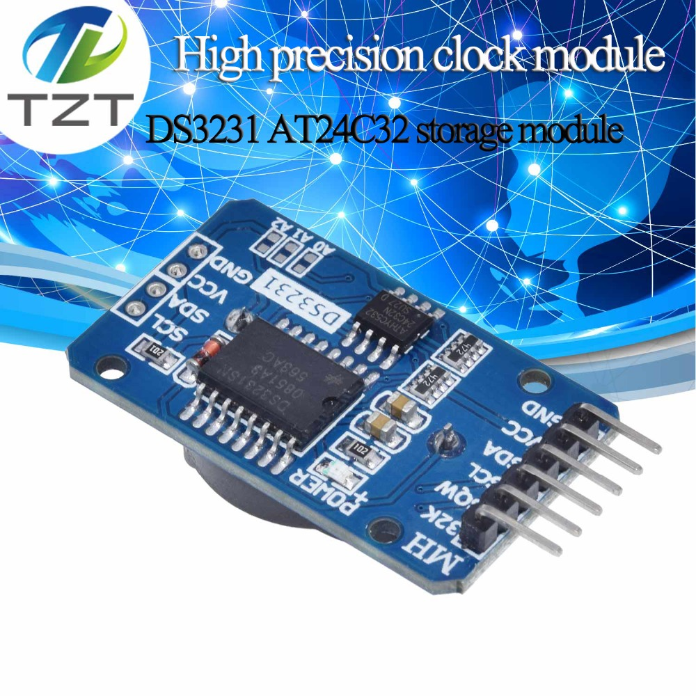 TZT DS3231 AT24C32 IIC Precision RTC Real Time Clock Memory Module RTC DS3231SN Memory module For Arduino raspberry pi DIY KITTZT DS3231 AT24C32 IIC Precision RTC Real Time Clock Memory Module RTC DS3231SN Memory module For Arduino raspberry pi DIY KIT