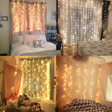 SVELTA 10M 1280Bulbs LED פיות וילון מחרוזת אורות Gerlyanda Garland חג המולד אור חג המולד חתונה קישוט חג קישוט