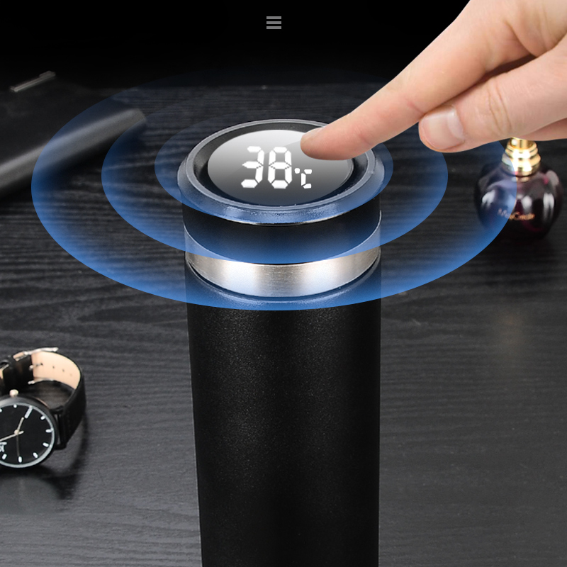 Intelligent Temperature Display Insulate Stainless Steel Thermos Tea Mug Strainer Mug Coffee Cup  Thermal Bottle Vacuum Flask
