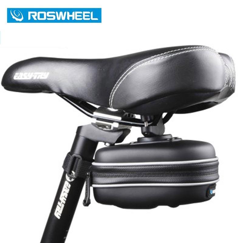 ROSWHEEL Bicycle Saddle Frame Bag Seat Post Storage Tail Pouch Cycling MTB Road Bike Bicycle Rear Pannier Bolsa Cykle Bags 13875