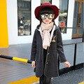 2016 Печать Девушки Зимние Пальто И Куртки Дети Верхняя Одежда Теплая Вниз Проложенный Одежды Куртка Дети Девочки Одежда